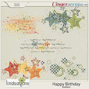 Happy Birthday Scatterz by Lindsay Jane
