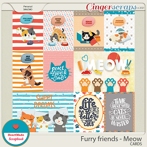 Furry friends - Meow - Cards