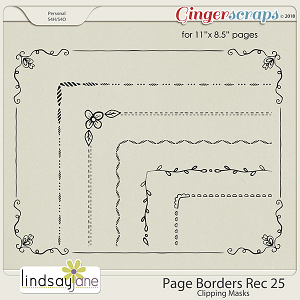Page Borders Rec 25 by Lindsay Jane