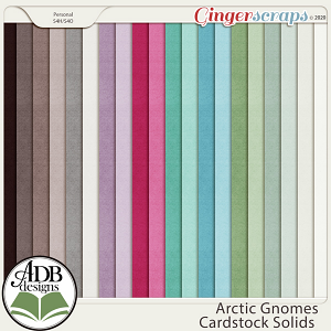 Arctic Gnomes Solid Papers by ADB Designs