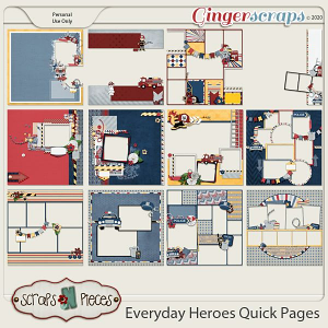 Everyday Heroes Quick Pages by Scraps N Pieces