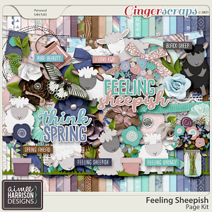 Feeling Sheepish Page Kit by Aimee Harrison