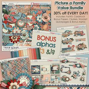Picture a Family Value Bundle by Trixie Scraps Designs