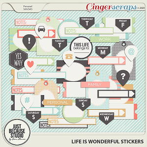 Life is Wonderful Stickers by JB Studio