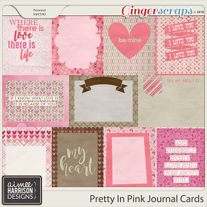 Pretty in Pink Journal Cards by Aimee Harrison
