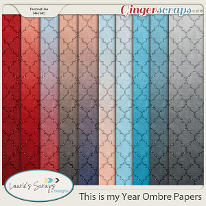 This is my Year Ombre Papers