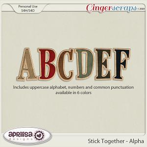 Stick Together - Alpha by Aprilisa Designs
