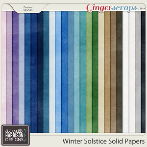 Winter Solstice Solid Papers by Aimee Harrison