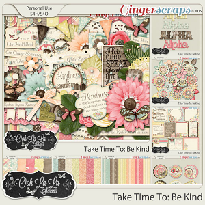 Take Time To Be Kind Digital Scrapbooking Bundle
