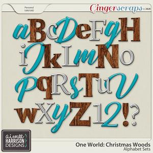 Christmas Woods Alpha Sets by Aimee Harrison