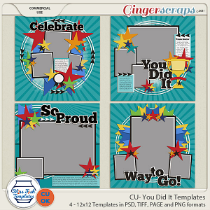 CU- You Did It Templates by Miss Fish