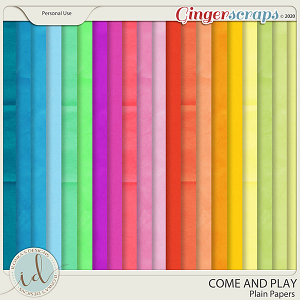 Come And Play Plain Papers by Ilonka's Designs