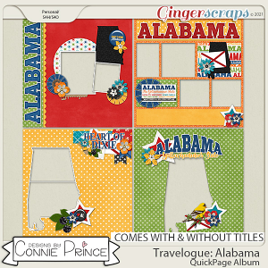 Travelogue Alabama - Quick Pages by Connie Prince