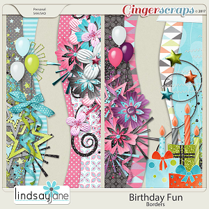 Birthday Fun Borders by Lindsay Jane