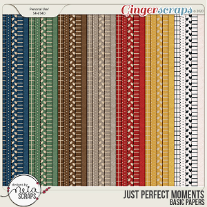 Just Perfect Moments - Basic Papers - by Neia Scraps