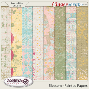 Blossom - Painted Papers by Aprilisa Designs