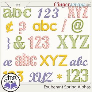 Exuberant Spring Alphas by ADB Designs