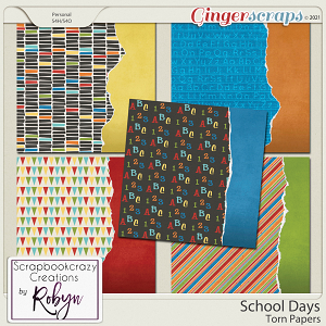 School Days Torn Papers by Scrapbookcrazy Creations