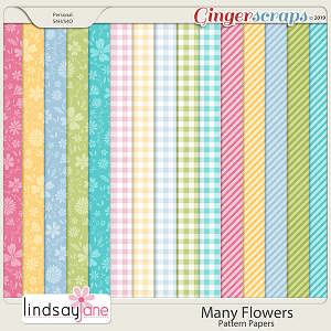 Many Flowers Pattern Papers by Lindsay Jane