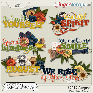 #2017 August - Word Art Pack