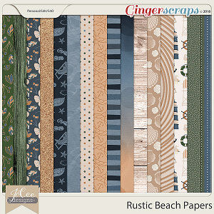 Rustic Beach Papers by JoCee Designs