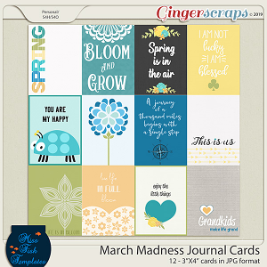 March Madness 2019 Journal Cards