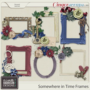 Somewhere in Time Frame Clusters by Aimee Harrison