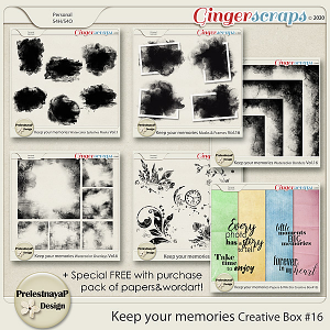 Keep your memories Creative Box #16