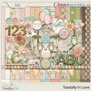 Toadally In Love Digital Scrapbook Kit by Dandelion Dust Designs
