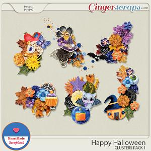 Happy Halloween - clusters pack 1
