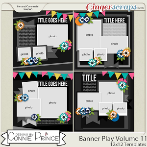Banner Play Volume 11 - 12x12 Temps (CU Ok) by Connie Prince