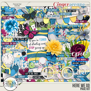 Here We Go - Page Kit - by Neia Scraps