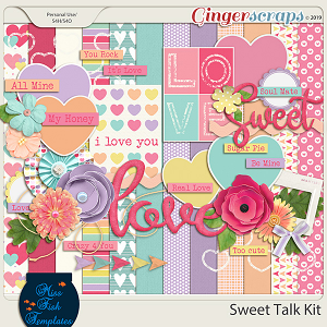 Sweet Talk Digital Scrapbooking Kit by Miss Fish