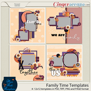 Family Time Templates by Miss Fish