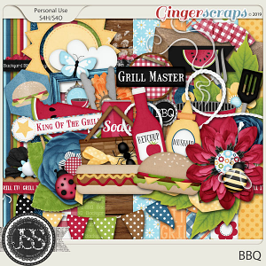 BBQ Digital Scrapbook Kit