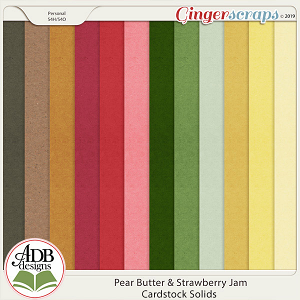 Pear Butter & Strawberry Jam Cardstock by ADB Designs