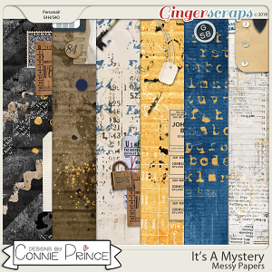 It's A Mystery - Messy Papers by Connie Prince