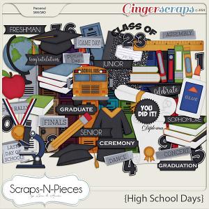 High School Days Theme Kit by Scraps N Pieces