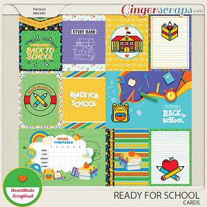 Ready for school - cards