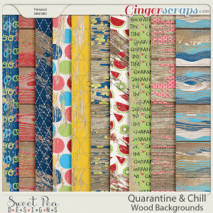 Quarantine and Chill Wood Backgrounds