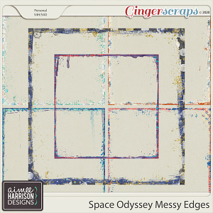 Space Odyssey Messy Edges by Aimee Harrison