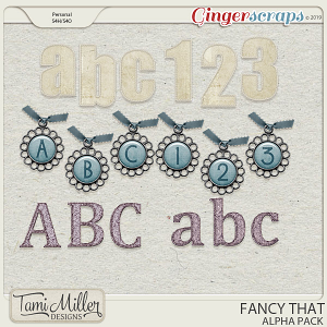 Fancy That Alpha Pack by Tami Miller Designs