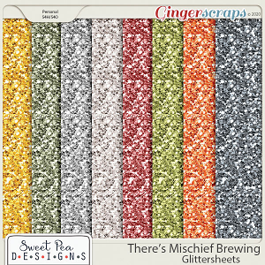 There's Mischief Brewing Glittersheets