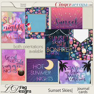 Sunset Skies: Journal Cards by LDragDesigns