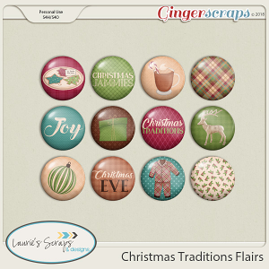 Christmas Traditions Flairs