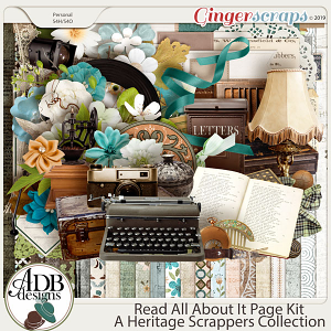 Read All About It Page Kit by ADB Designs