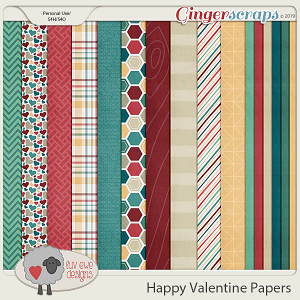 Happy Valentine Papers by Luv Ewe Designs