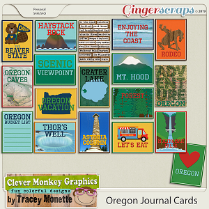 Oregon Journal Cards by Clever Monkey Graphics