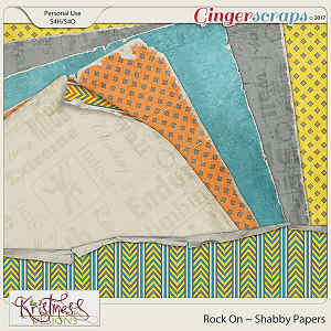 Rock On Shabby Papers