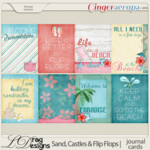 Sand, Castles & Flip Flops: Journal Cards by LDragDesigns